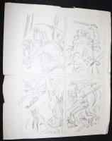 Avengers Prelim p.14 - Vision and Scarlet Witch Action Comic Art