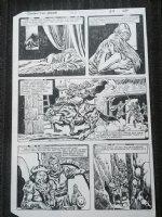Conan the Barbarian #151? p.24 - Sketch on back - 1983 Comic Art