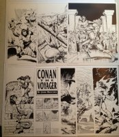 Conan The Voyager Port - 7 Prints - 1992 Comic Art