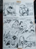 Weirdworld #? p.12 - Wizard Magic and Nude Girl - 1980's Signed Comic Art