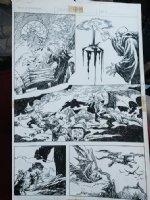Weirdworld #? p.15 - Wizard Magic, Dragon, and Elves - 1980's Signed Comic Art