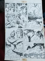 Weirdworld #? p.18 - vs. Dragons - 1980's Signed Comic Art