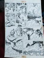 Weirdworld #? p.18 - vs. Dragons - 1980's Signed Comic Art