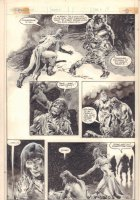 Savage Sword of Conan #98 p.10 - Conan with Babe - 1984  Comic Art