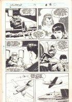 Wolverine #14 p.8 - Plane Ride - 1989  Comic Art
