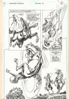 Wonder Woman Annual #6 p.5 - Young Diana (Wonder Woman) Action - 1997 Signed Comic Art