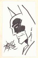 Batman Portrait Drawing - Signed Comic Art