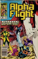 Alpha Flight #26 Cover Color Seps - 1985 Comic Art