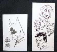Batman 19 Second Sketch + Bruce, Alfred, Commissioner Gordon, & Babe 2pc Set - Signed Comic Art
