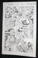 Deadpool #13 p.17 - Pimp Deadpool and Luke Cage - 2015 Signed Comic Art