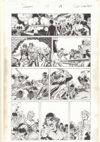 Deadpool #13 p.19 - Deadpool, Iron Fist, Power Man, and The Warriors Parody 1970's Action - 2013 Signed Comic Art