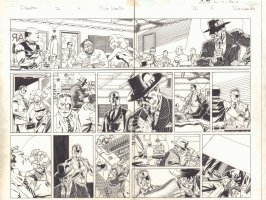 Deadpool #26 pgs. 4 & 5 - Nick Fury and Wade Wilson in the 1950s DPS - 2014 Signed Comic Art