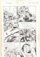 Deadpool #26 p.13 - Adolf Hitler in Robot Fries Nick Fury - Deadpool in the 1950s - 2014 Signed Comic Art