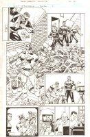 Captain America [Taco Bell] #1 p.10 - Cap, Nick Furym & Hydra - 2009 Signed Comic Art