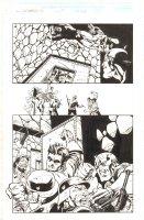 Captain America: Sentinel of Liberty #12 p.28 - Cap & Bucky Action - 1999 Comic Art