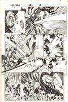 Captain Marvel #1 p.18 - Captain Marvel vs. Dragon - 2001 Signed Comic Art