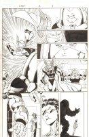Avengers Next #3 p.4 - Thena and J2 - 2007 Signed Comic Art