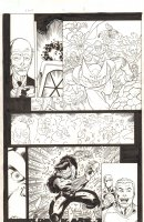 Avengers Next #5 p.9 - X-Men, Spider-Man, Venom, & F4 - 2007 Signed Comic Art