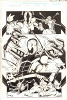 Avengers United They Stand #1 p.3 - Ultron - 1999 Signed Comic Art