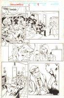 Captain America #6 p.9 - Skrulls and Captain America - 1998 Signed Comic Art