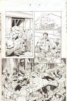 Captain America #7 p.7 - Steve Rogers, Tony Stark, and Reed Richards - 1998 Signed Comic Art