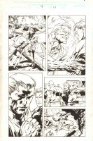 Captain America #7 p.11 - Steve Rogers and Quicksilver - 1998 Signed Comic Art