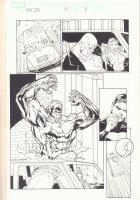 Marvel Knights Spider-Man #15 p.9 - Absorbing Man - 2005 Signed Comic Art