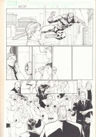 Marvel Knights Spider-Man #16 p.16 - Spidey Web-Slinging - 2005 Signed Comic Art