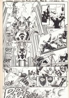 Deadpool #3.1 p.8 - Deadpool on Motorcycle vs. Red Skull - 2016  Comic Art