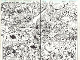 Deadpool: Last Days of Magic #1 pgs.  4 & 5 - Crazy Action DPS - 2016 Comic Art