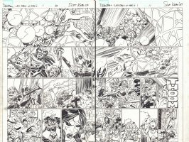 Deadpool: Last Days of Magic #1 pgs. 10 & 11 - Doctor Voodoo &  Shiklah DPS - 2016 Comic Art