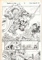 Deadpool's Art of War #2 p.8 - Odin, Sif, Warriors Three, & More - 2014 Comic Art