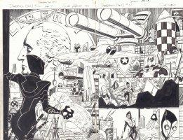 Deadpool #12 pgs. 4 & 5 - Deadpool's Batcave DPS - 2015 Comic Art