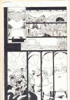 Avengers Next #5 p.14 - Thena (Female Thor) and Juggernaut - 2007 Signed Comic Art
