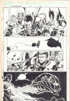 Marvel Adventures Fantastic Four #7 p.11 - Sub-Mariner and the F4 in Underwater Ship - 2006 Signed Comic Art