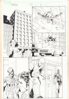 Marvel Knights Spider-Man #17 p.6 - Spidey Action - 2005 Comic Art