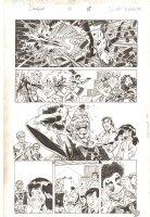 Deadpool #13 p.18 - Deadpool Grotesque Unmasking - Iron Fist & Power Man - 2013 Signed Comic Art