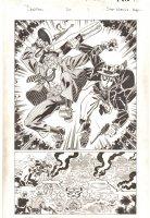 Deadpool #20 p.1 - Deadpool and Cable in Wakanda Splash - 2014 Signed Comic Art