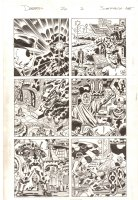 Deadpool #20 p.2 - Deadpool and Cable in a Kirby-esque Wakanda - 2014 Signed Comic Art