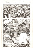 Deadpool #20 p.10 - Deadpool, The Thing, and Mangog in a Kirby-esque World - 2014 Signed Comic Art