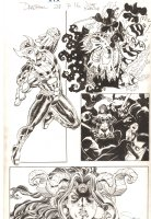 Deadpool #28 p.16 - Awesome Sunfire, Ninjas, and Shiklah in Japan vs. Monster - 2014 Signed Comic Art