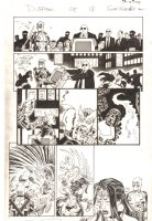 Deadpool #28 p.18 - Deadpool, Sunfire, and Shiklah Transforms back from her Demonic Reptile Form in Japan - 2014 Signed Comic Art