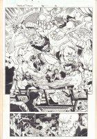 American Dream #5 p.8 - Battle Action Splash - 2008 Signed Comic Art