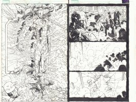 Eternals #? pgs. 6 & 7 - Awesome Iron Man Party Crashing DPS - 2007  Comic Art