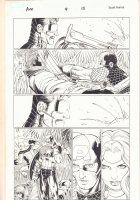 Avengers vs. X-Men #4 p.15 - Cyclops punches Gambit in the Face - Hank Pym App - 2012 Comic Art