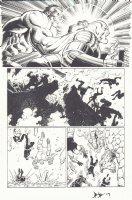 Avengers Vs. X-Men #2 p.4 - Hulk vs. Colossus Juggernaut - 2012 Signed Comic Art