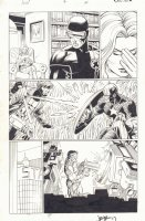 Avengers vs. X-Men #4 p.14 - Emma Frost with Cyclops - Gambit vs. Captain America - Tony Stark - 2012 Signed Comic Art