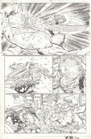 Captain America #8 p.4 - Bearded Captain America vs. Captain Zolandia - 2013 Signed Comic Art