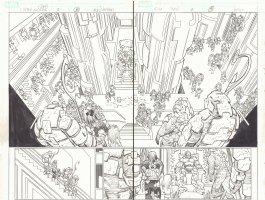 Captain America #2 pgs. 18 & 19 - Throne Room DPS - 2013 Comic Art