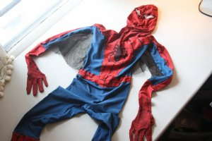 MISSING: VINTAGE SPIDER-MAN COSTUME - NOT THE CARNEGIE HALL COSTUME AS PREVIOUSLY ADVERTISED - REWARD FOR INFORMATION LEADING TO OR THE RETURN OF THIS COSTUME!